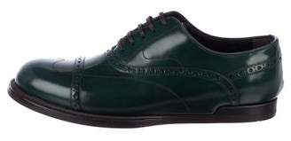 Dolce & Gabbana Cap-Toe Leather Brogues