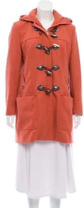 Michael Kors Zip-Up Wool Coat