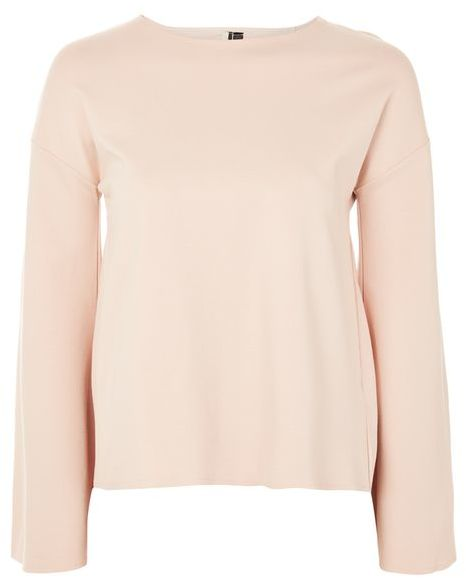 Topshop Topshop Split long flute sleeve sweat top