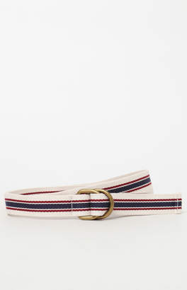 La Hearts Cream & Navy Linked Webbed Belt