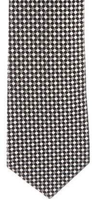 Charvet Jacquard Checkerboard Silk Tie