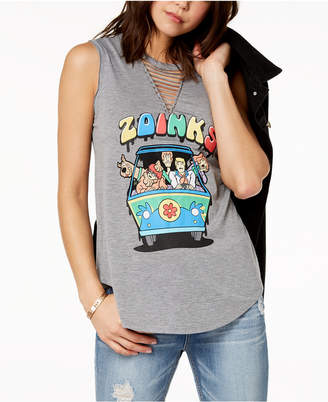 Scooby-Doo Love Tribe Juniors' Strappy Graphic T-Shirt