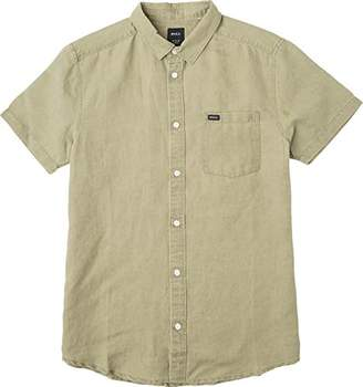 RVCA Men's Crush Short Sleeve Woven Shirt