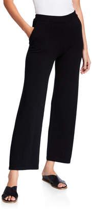Neiman Marcus Wide Leg Cashmere Pants