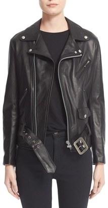 Women's Junya Watanabe Leather Moto Jacket $2,362 thestylecure.com