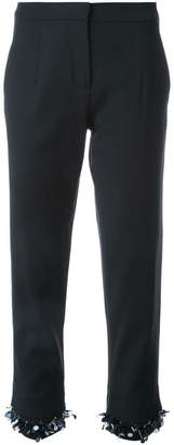 Mother of Pearl cropped trousers
