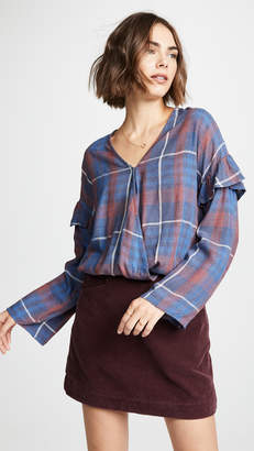 Bella Dahl Plaid Blouse