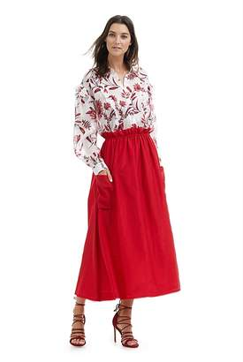 Country Road High Waisted Midi Skirt