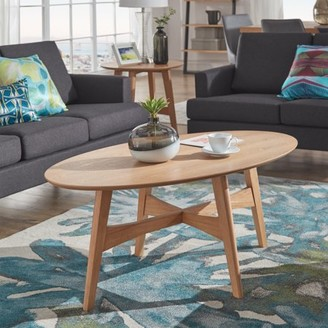 Weston Home Carole Oval Wood Entryway Coffee Table, Multiple Colors