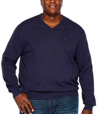 Izod Premium Essential V-Neck Long Sleeve Sweatshirt - Big and Tall