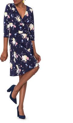 Leota Felicity Perfect Printed Jersey Wrap Dress
