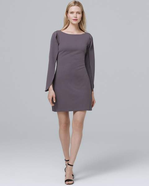 Whbm Vented Bell-Sleeve Shift Dress