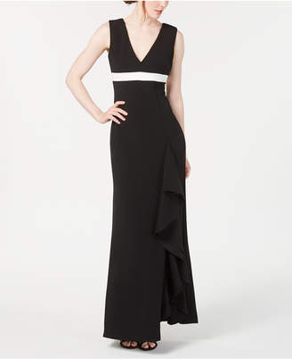 Calvin Klein Ruffled Embellished Gown