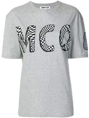 McQ check logo print T-shirt