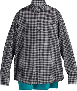 Balenciaga Double-layer cotton shirt