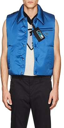 Prada Men's Padded Tech-Twill Vest - Blue