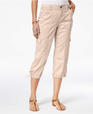 Style & Co Petite Bungee-Hem Cargo Capri Pants, Only at Macy's $21.98 thestylecure.com