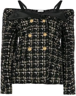 Faith Connexion cold shoulder tweed jacket