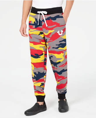True Religion Men's Colorful Camo Jogger Pants