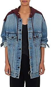 Alexander Wang Denim x Women's Daze Hooded Denim Trucker Jacket - Lt. Blue