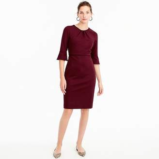 J.Crew Tall bell-sleeve sheath in stretch ponte