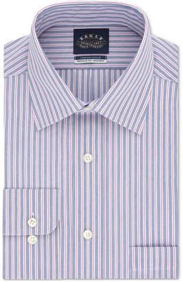 Eagle Men Classic/Regular Fit Non-Iron Stretch Collar Stripe Dress Shirt