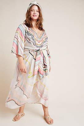 Conditions Apply Tara Dolman-Sleeved Midi Dress