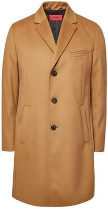 HUGO Malte Virgin Wool Coat with Cashmere