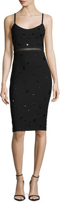 Elizabeth and James Bianca Embellished Fitted Dress, Black $545 thestylecure.com
