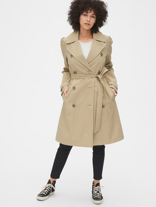 Gap Puff Sleeve Trench Coat