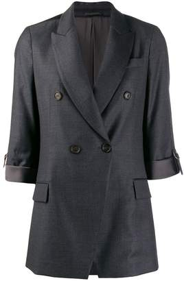 Brunello Cucinelli double-breasted fitted blazer