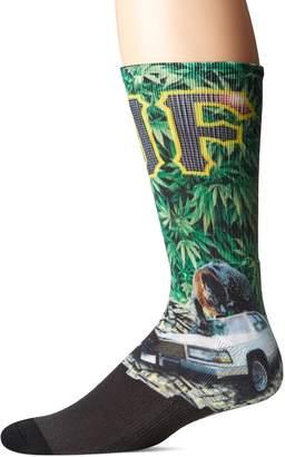 HUF Men's Big Cats Crew Sock