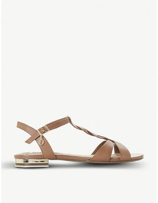 Dune Lottery plait T-bar sandal