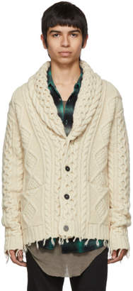 Alanui Off-White Fishermans Knitted Cardigan