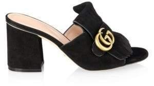 Gucci Marmont Suede Slides