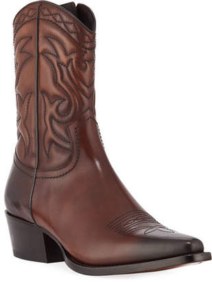 DSQUARED2 Men's Leather Western Cowboy Boots