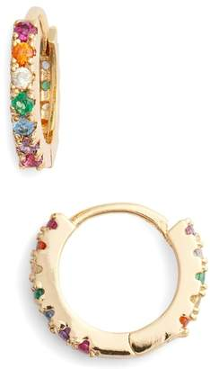 Lulu DK Rainbow Huggie Hoop Earrings