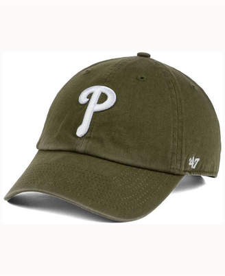 '47 Philadelphia Phillies Olive White Clean Up Cap