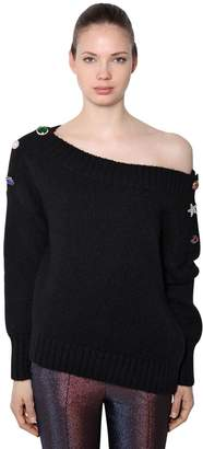 Veronica Beard Chase Alpaca Wool Blend Knit Sweater