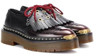 Burberry Leather platform brogues