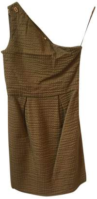 Chloé Khaki Cotton Dresses