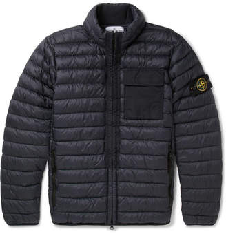 Stone Island Quilted Garment-Dyed Micro-Ripstop Down Jacket