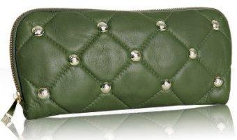Rebecca Minkoff black distressed patent leather 'Stud' clutch