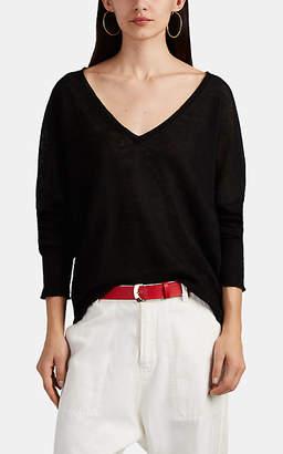 Nili Lotan Women's Ginny Linen V-Neck Sweater - Black