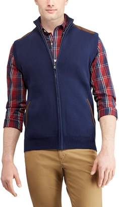 Chaps Men's Regular-Fit Full-Zip Sweater Vest