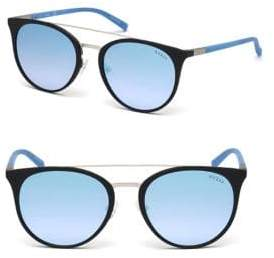 GUESS 56MM Round Top-Bar Sunglasses
