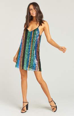 Show Me Your Mumu Vivian Slip Dress ~ Cocktail Stripe Sequins