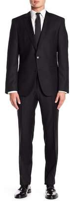 BOSS Genius Pinstripe Notch Collar Flat Front Pants 2-Piece Suit