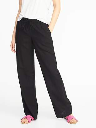 Old Navy Mid-Rise Soft Wide-Leg Linen-Blend Pants for Women