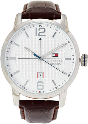 Tommy Hilfiger 1791217 Silver-Tone & Brown George Watch